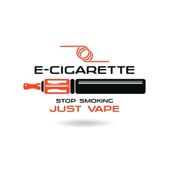 E cigarette emblem vector image vector image