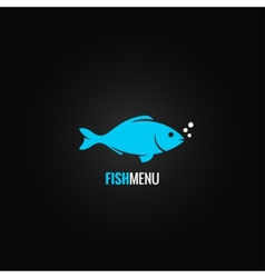 fish design background vector image