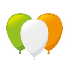 flag irish ireland balloon vector image