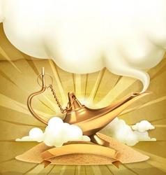 Genie lamp vector image vector image
