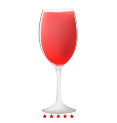 glass of wine icon color fill style vector image
