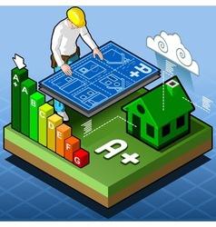 Isometric infographic energy performance vector
