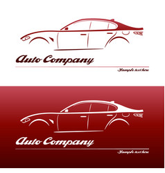 Logo car design element with business card vector