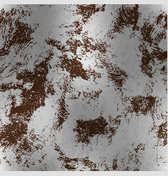 metallic foil with rust textured pattern vector image