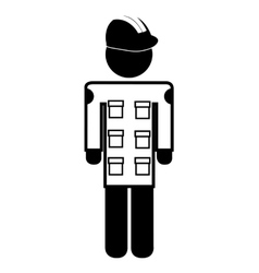 painter silhouette avatar isolated vector image