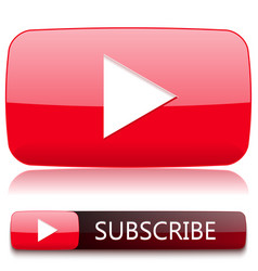 Play button for video player and a button to vector