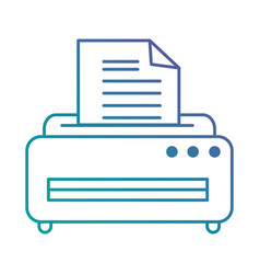 printer machine isolated icon vector image