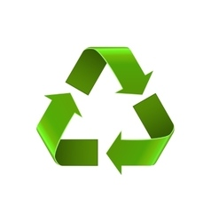 Recycle symbol isolated on white green arrows vector image vector image