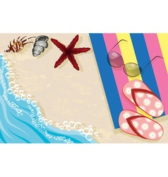 Relaxing Beach Day vector image