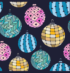 seamless bright pattern with christmas balls on vector image vector image
