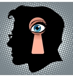 Secret thoughts of espionage vector image vector image