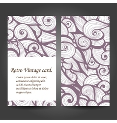 Set retro business card background Card vector image vector image