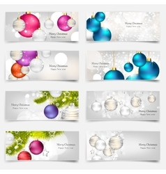 Set with Christmas greeting vector image