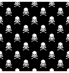 Skull and Bones seamless bacground - vector image
