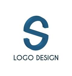 Stock logo letter s 3d vector image