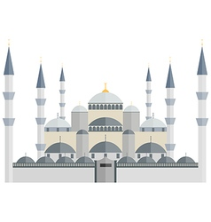 The blue mosque turkey istanbul vector