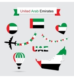 United arab emirates symbols vector