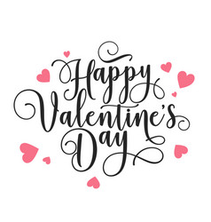 Valentines day oblique lettering handwritten vector