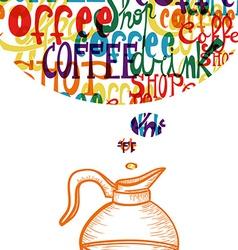 Vintage cute coffee social concept vector image