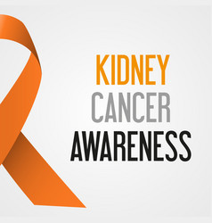 world kidney cancer day awareness poster eps10 vector image vector image