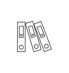 Outline document folder icon vector