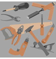 Abstraction drawn a variety of objects and tools vector