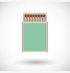 Matchbox flat icon vector