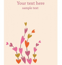 Retro flowers background vector