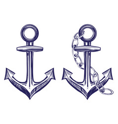Anchor stenci set symbol hand drawn vector