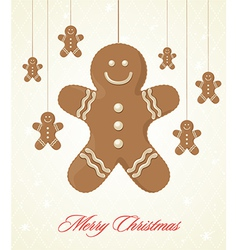 Gingerbread cookie background vector