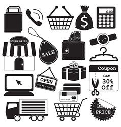 Shopping icons collection vector