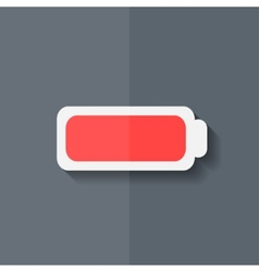 Full battery icon accumulator flat design vector
