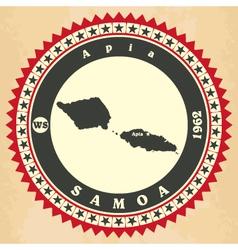 Vintage label-sticker cards of samoa vector