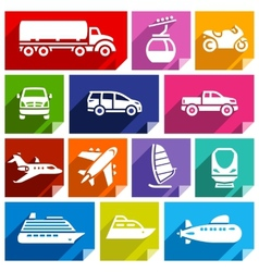 Transport flat icon bright color-07 vector image