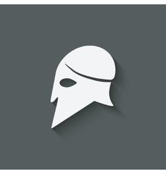 antique helmet symbol vector image