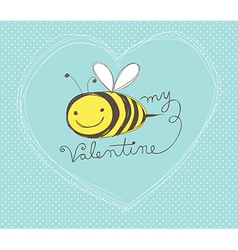 Bee my valentine vector