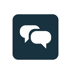 Conversation icon rounded squares button vector
