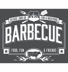 Backyard Barbecue Invitation vector image