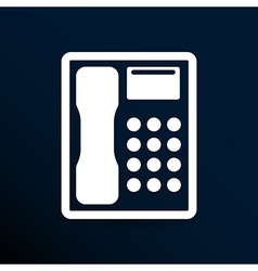 Telephone icon phone ip business concept vector