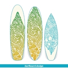 Surfboard design five vector