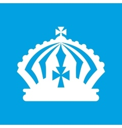 Crown white icon vector
