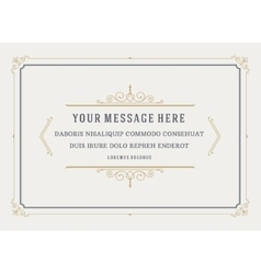 Vintage ornament quote marks box frame vector