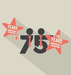 75 years anniversary typography design vector