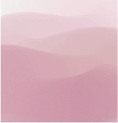 Pink hiils watercolor background vector