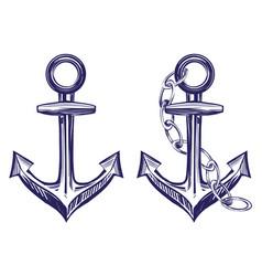 anchor stenci set symbol hand drawn vector image