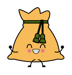 bag of money kawaii cartoon vector image