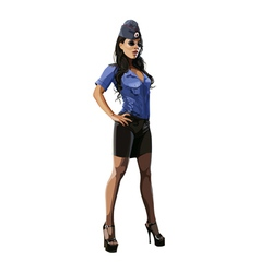 beautiful sexy woman in police uniform blouse vector image