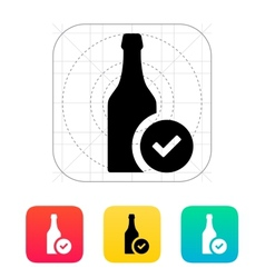 Bottles of beer icon vector image