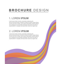 brochure template cover design background vector image