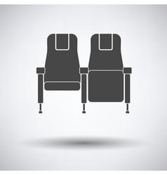 Cinema seats icon vector image vector image